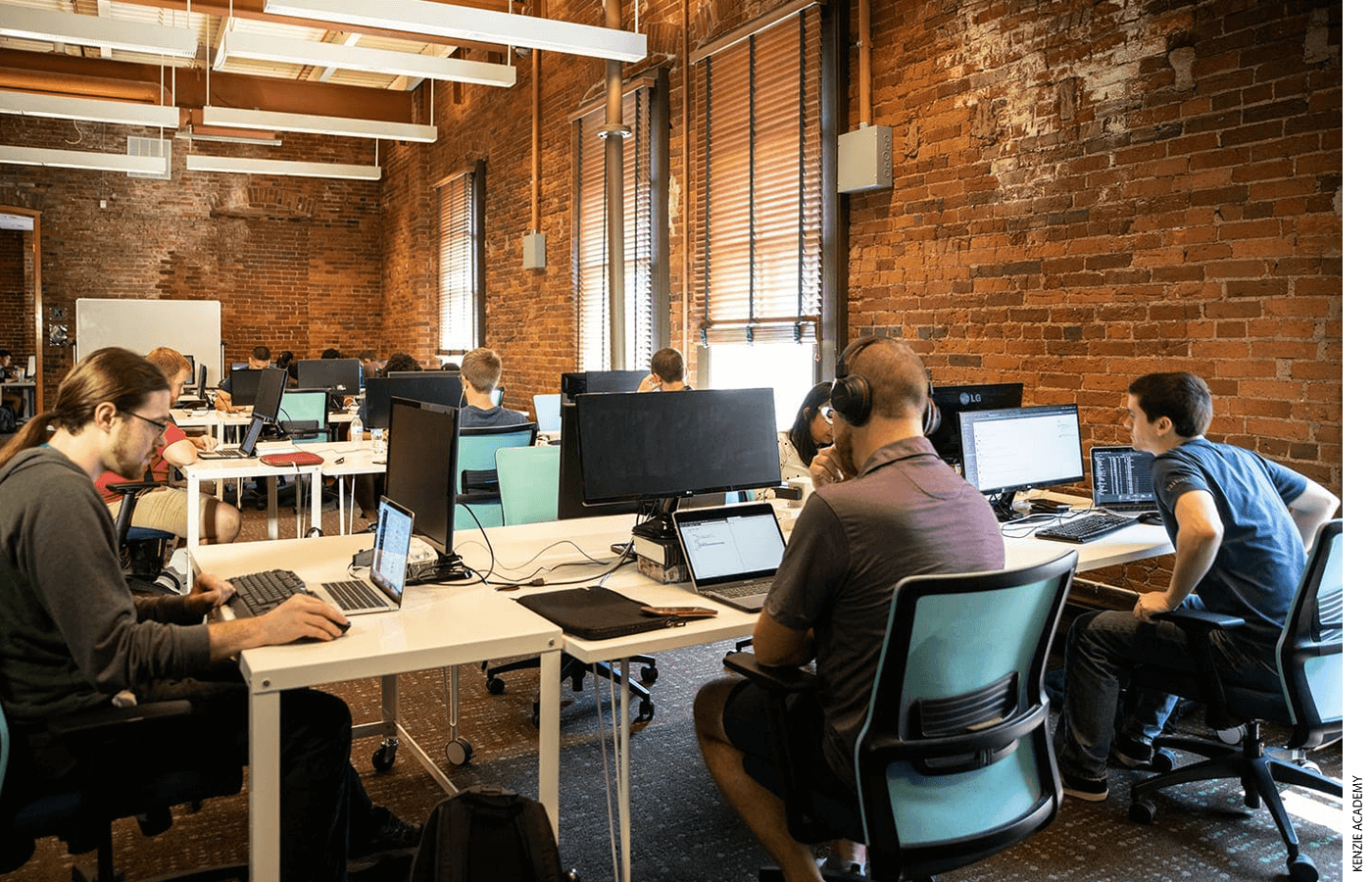 In Indianapolis, Kenzie Academy began in 2017 as a two-year venture-funded technology and apprenticeship program focused on software engineering skills.