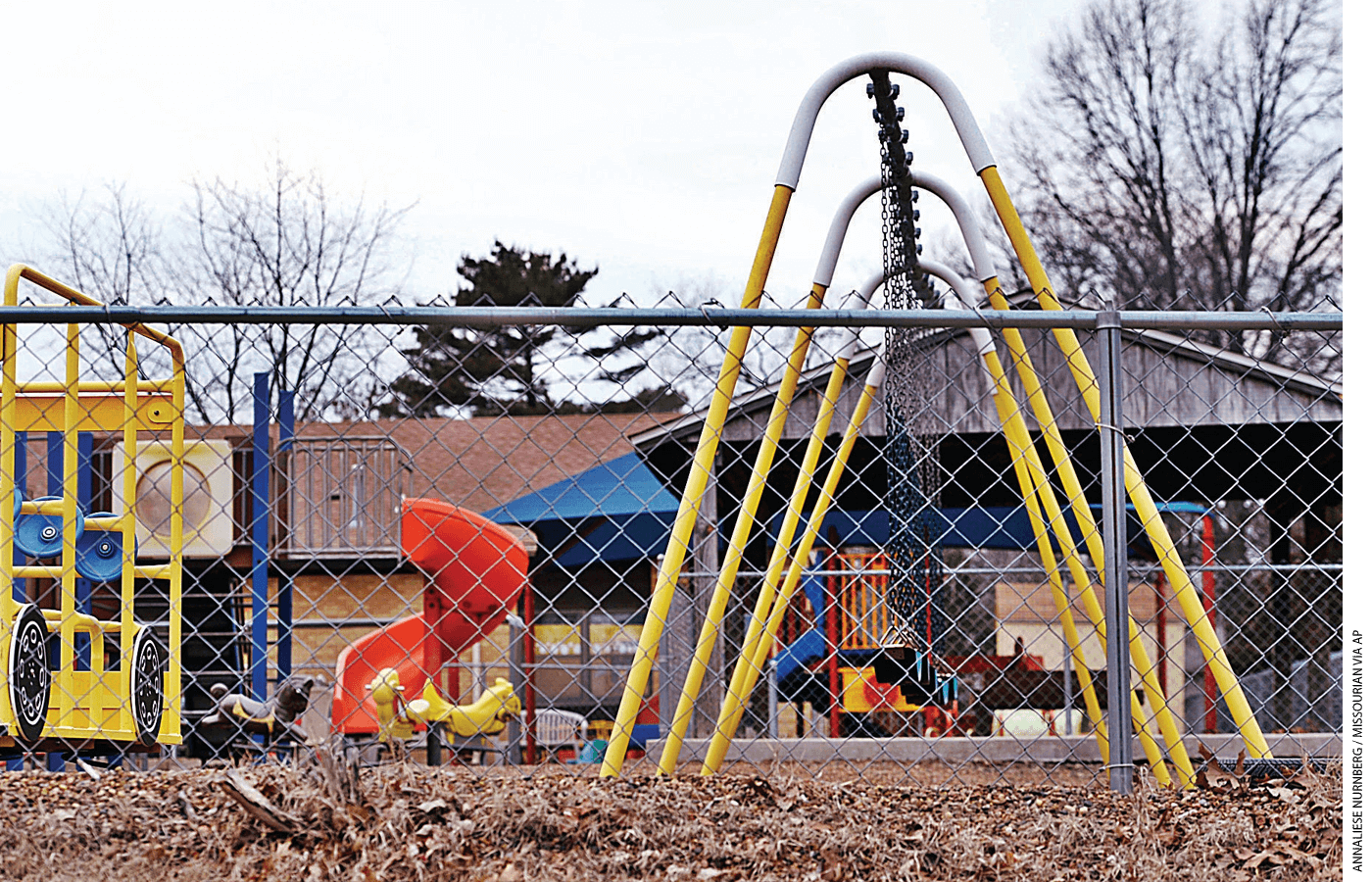 The playground at Trinity Lutheran Church in Columbia, Missouri.