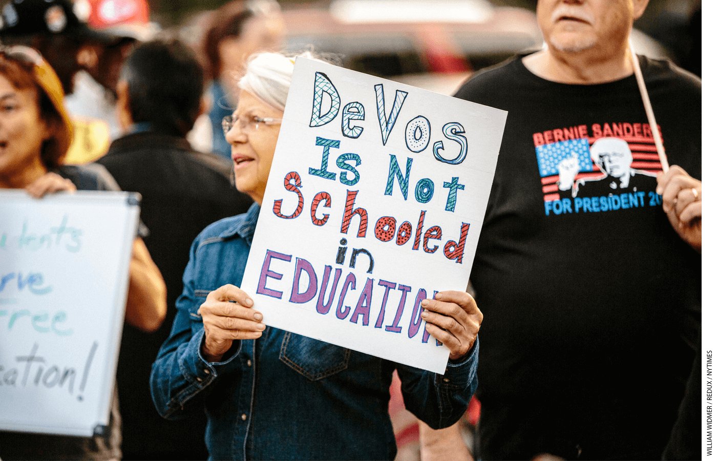 When teachers unions attacked DeVos as unqualified, they were expressing their concerns about her lack of working with them.