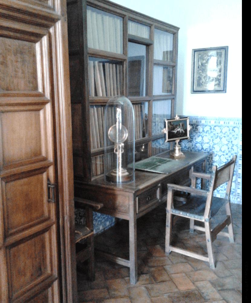 Philip II's study in El Escorial.